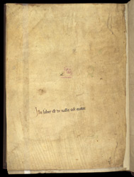 Ownership Inscription, 'The Life Of St. Milburga'